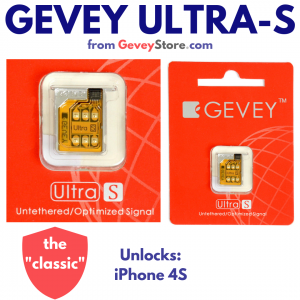 Gevey SIM Ultra S will unlock any iPhone 4S on any network