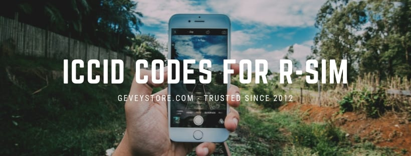 ICCID Code for RSIM (November 2019, iOS 13 1) - GeveyStore com