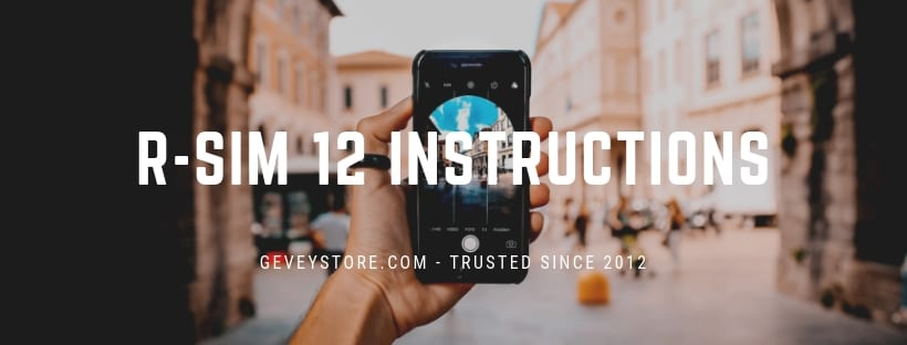 Find easy R-SIM 12 instructions for unlocking an iPhone from GeveyStore.com