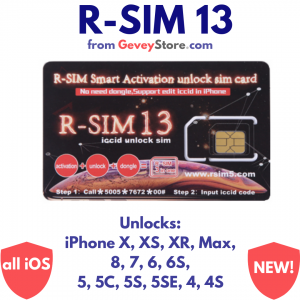 R-SIM 13 (upgrade of R-SIM Supreme) from GeveyStore will unlock any iPhone with any network