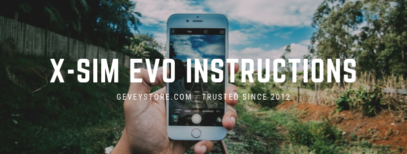 X-SIM EVO instructions to unlock any iPhone from GeveyStore