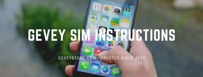 Complete Gevey SIM Instructions - How to use Gevey Ultra S v2.02