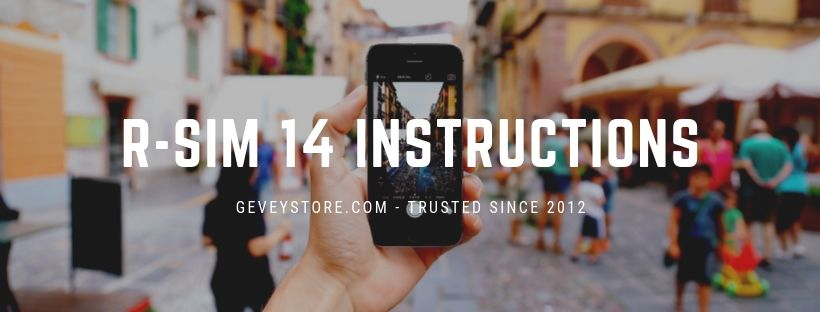 These RSIM 14 instructions make it easy to unlock your iPhone XS Max with GeveyStore